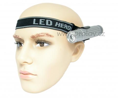 Svítilny - Čelový pásek pro uchycení ruční svítilny - otočný