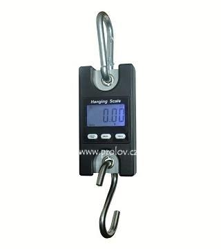 Lovecké potřeby - Závěsná digitální váha 100, 150, 200 - robustní oka, karabina i hák