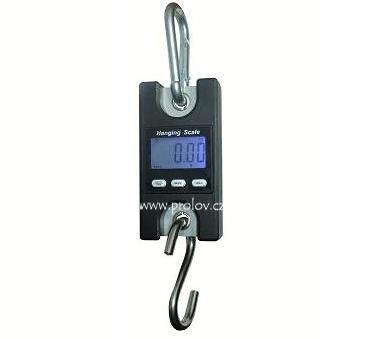 Lovecké potřeby - Závěsná digitální váha 200kg - robustní oka, karabina i hák