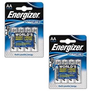 Baterie a nabíječky - 8x Energizer Ultimate Lithium 1,5V AA