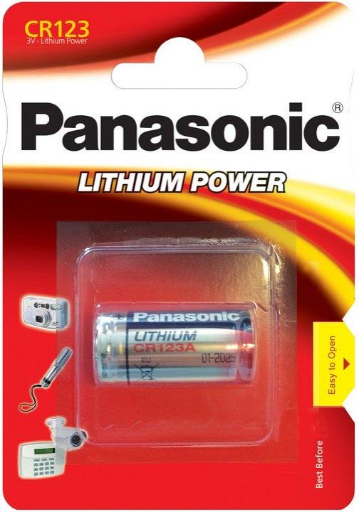 Baterie a nabíječky - Baterie lithium 3V CR123A Panasonic