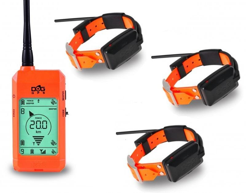 Kynologické potřeby - DOG GPS X23 orange - sada pro 3 psy