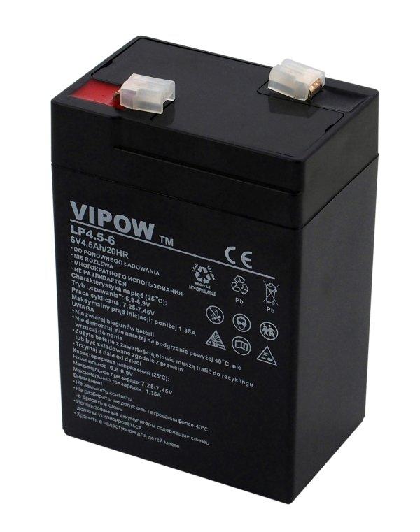 Baterie a nabíječky - Gelový akumulátor Vipow 6V 4.5Ah