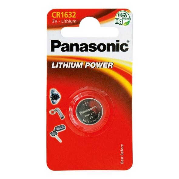 Baterie a nabíječky - Knoflíková lithiová baterie Panasonic CR1632
