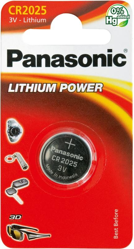 Baterie a nabíječky - Knoflíková lithiová baterie Panasonic CR2025