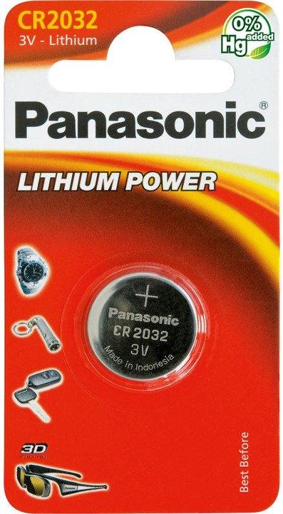 Baterie a nabíječky - Knoflíková lithiová baterie Panasonic CR2032