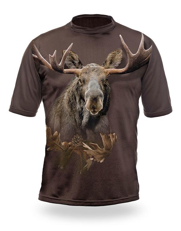 Lovecké oblečení - Myslivecké tričko kr. rukáv Los 3D b. Dub