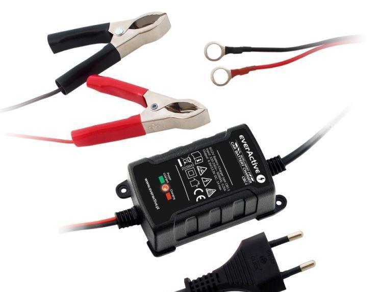 Baterie a nabíječky - Nabíječka akumulátorů Everactive CBC-1 pro 6V / 12V Gel / AGM / olověná