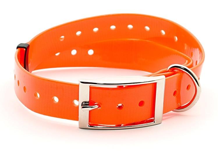 Kynologické potřeby - Plastový obojek pro GPS oranžový 25 mm x 70 cm