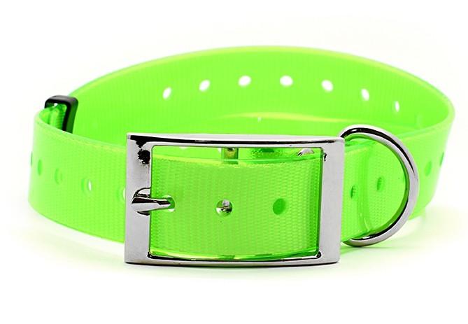 Kynologické potřeby - Plastový obojek pro GPS zelený 25 mm x 70 cm