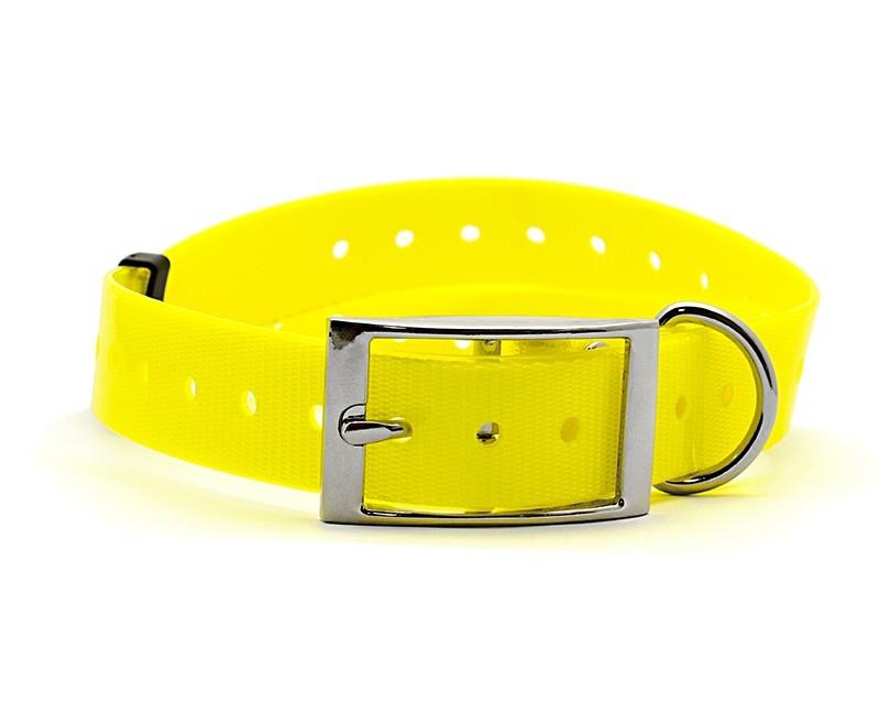 Kynologické potřeby - Plastový obojek pro GPS žlutý 25 mm x 70 cm