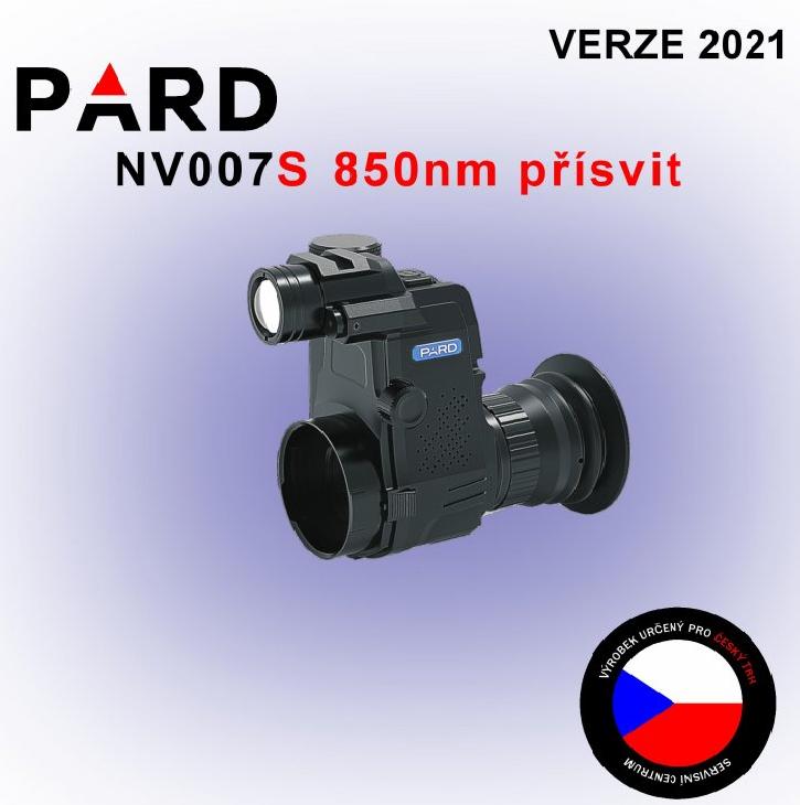 Noční vidění - ZASÁDKA PARD NV007S 850NM DEN/NOC 2021 + nabíječka a SD 16GB ZDARMA
