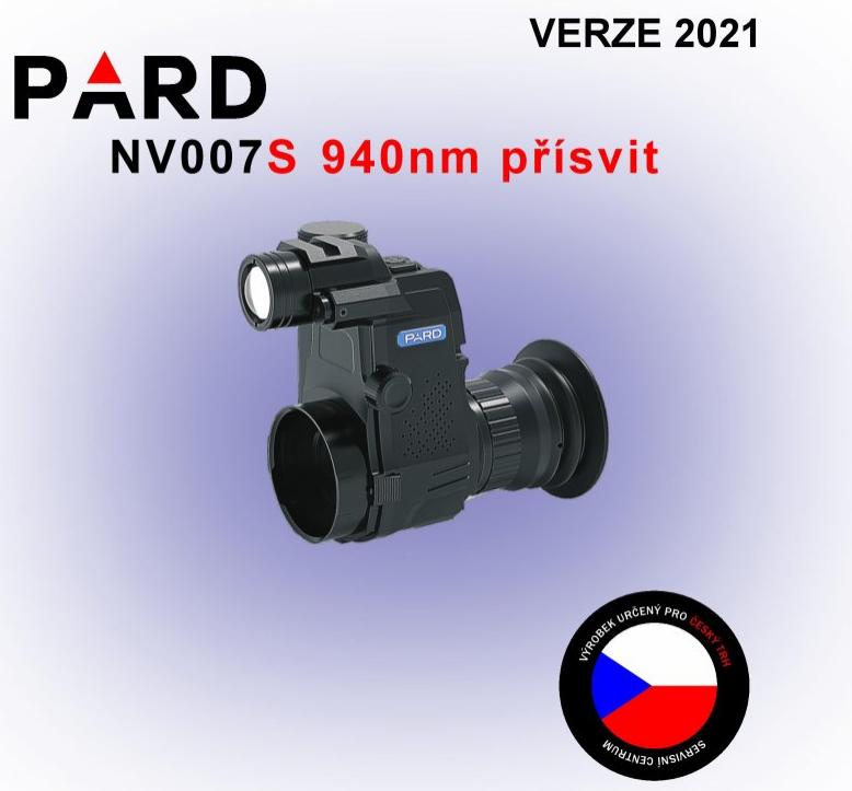 Noční vidění - ZASÁDKA PARD NV007S 940NM DEN/NOC + nabíječka a SD 16GB ZDARMA