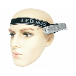 Čelový pásek pro uchycení ruční svítilny - otočný foto